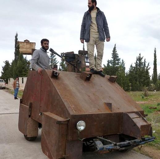 看哥给你来一炮,叙利亚反对派手柄坦克