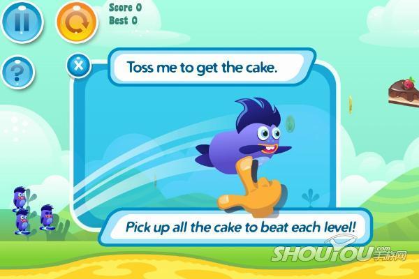【手游网原创专稿,未经允许请勿转载】  试玩导读:有点类似愤怒的小鸟,但是这些怪兽可不是攻击坏猪。他们要做得是夺回被偷的蛋糕,果然又是一个吃货的故事。  《怪兽投掷》关卡选择界面 游戏介绍:《怪兽投掷(Yumby Toss)》是一款类似愤怒的小鸟的休闲游戏,玩家只需滑动屏幕即可将小怪兽们发射出去,然后尽可能多的收集金币和美味蛋糕即可。游戏中共有五大世界等待玩 家来挑战,同时,六种能力不同的小怪兽存在,也让玩家在游戏的挑战过程中更具戏剧性。  咻~~尽力扔出怪兽吧!  在空中形成抛物线以得到金币和蛋糕