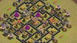COC玩家分享:两个八本部落战阵型