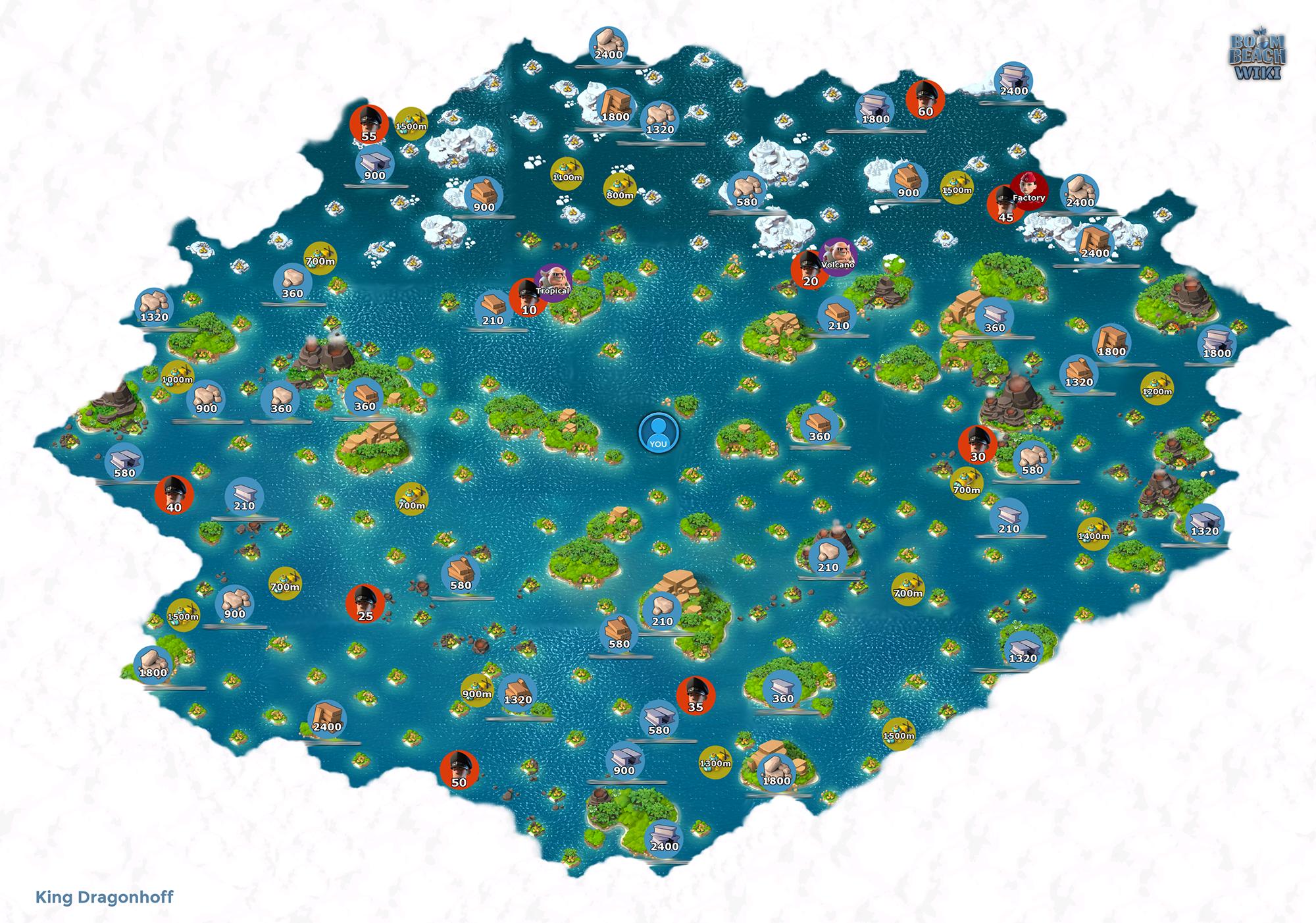 海岛奇兵大地图,标记潜水点深度,资源岛产量,boss分布