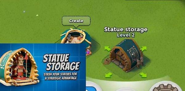 更有策略性地存储雕像:只能存入新造神雕