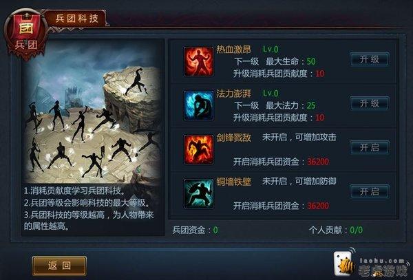 玩家分享 不败战神兵团荣誉值巧用方法