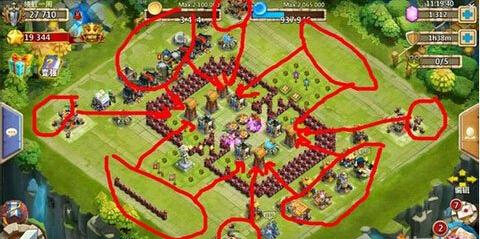 城堡争霸撤掉10个墙后可以稳定F攻略