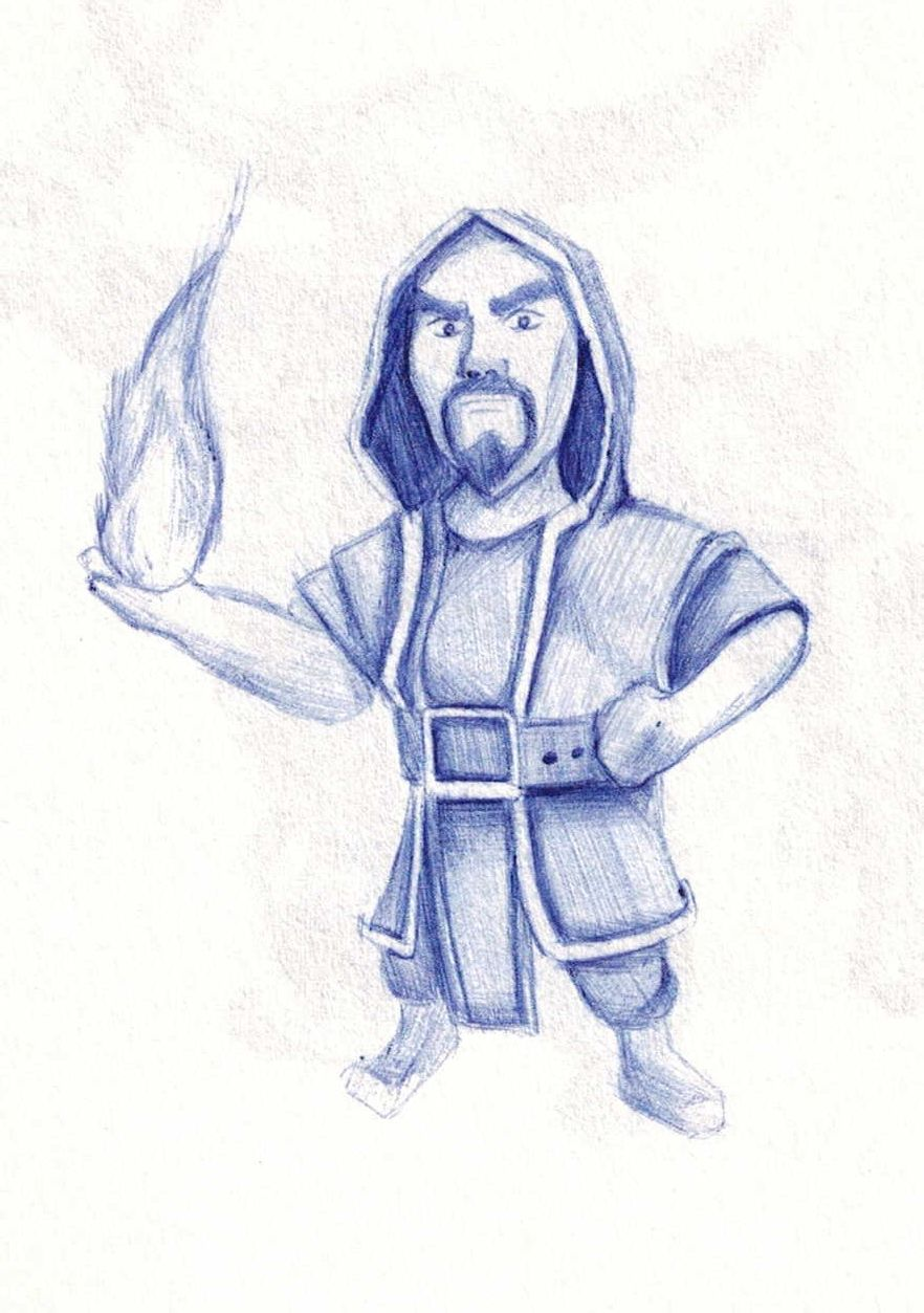 部落冲突玩家手创作 coc全兵种手绘图