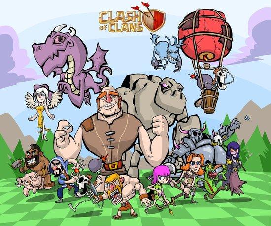 部落冲突漫画图片手绘