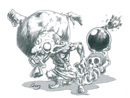 大魔王的部落冲突涂鸦 超棒手绘同人图