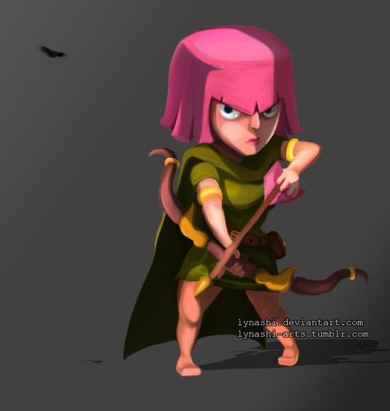 部落冲突玩家手绘弓箭mm图分享