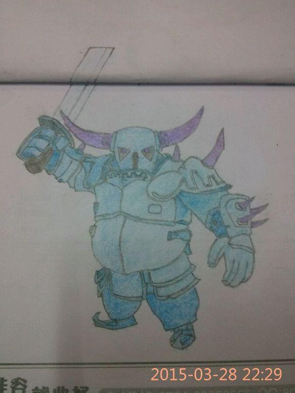 coc玩家彩铅手绘 部落冲突兵种角色