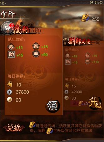 《乱世曲》战斗力系统详细解答