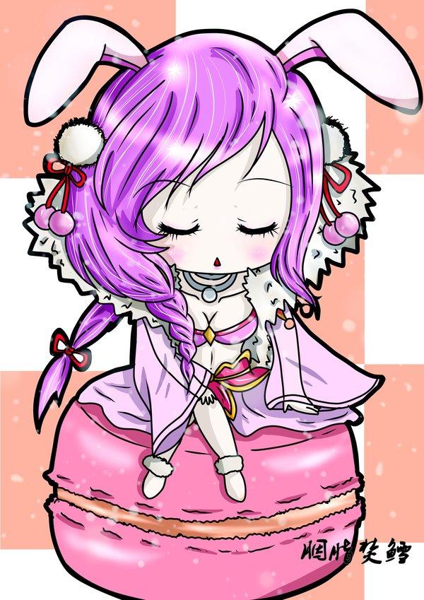 可爱哒玉兔精 和美美哒嫦娥~
