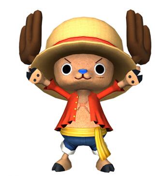 哈哈,因为是主角,所以想穿谁的衣服都可以,乔巴穿上路飞的衣服也超级