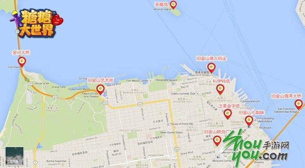 今天旧金山地图曝光,金门大桥