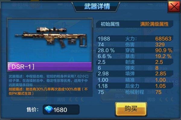 《全民突击》目前狙击枪的优先选择