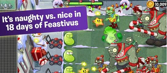 植物也过圣诞节 植物大战僵尸2国际版3.1.1盛装来临